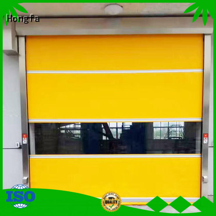 Hongfa high-quality roll up doors interior in china for warehousing