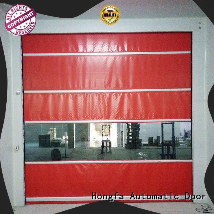 Hongfa performance high speed door in china for food chemistry textile electronics supemarket refrigeration logistics