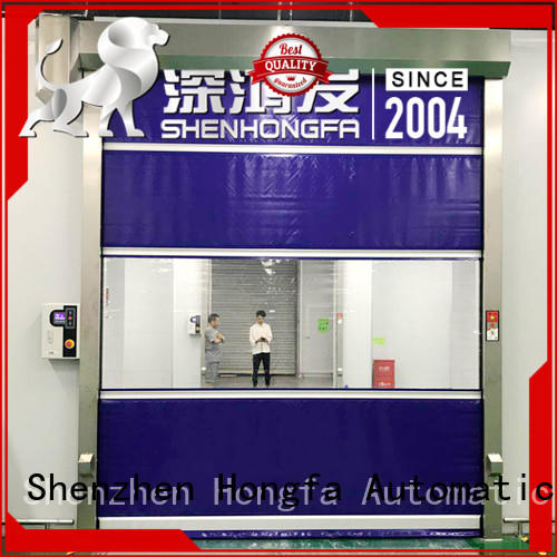 Hongfa clear high speed roll up doors marketing for supermarket