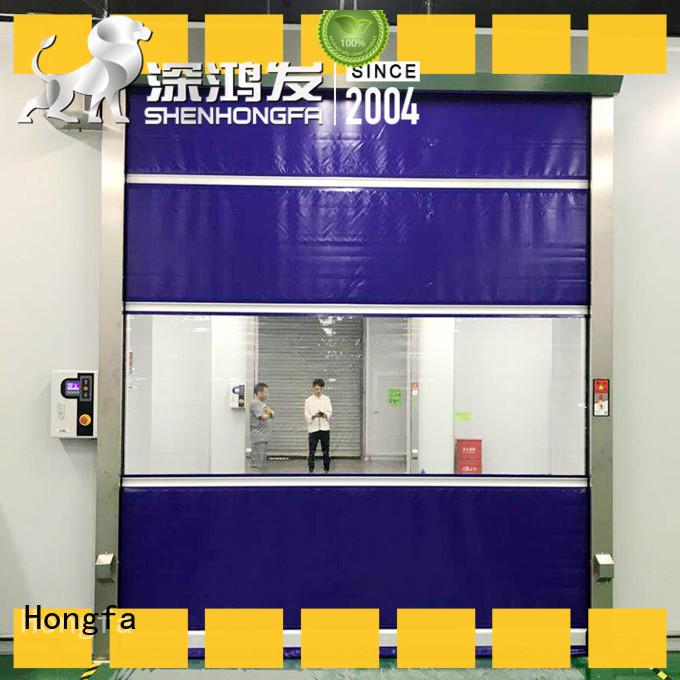 Hongfa perfect roll up door overseas market for warehousing