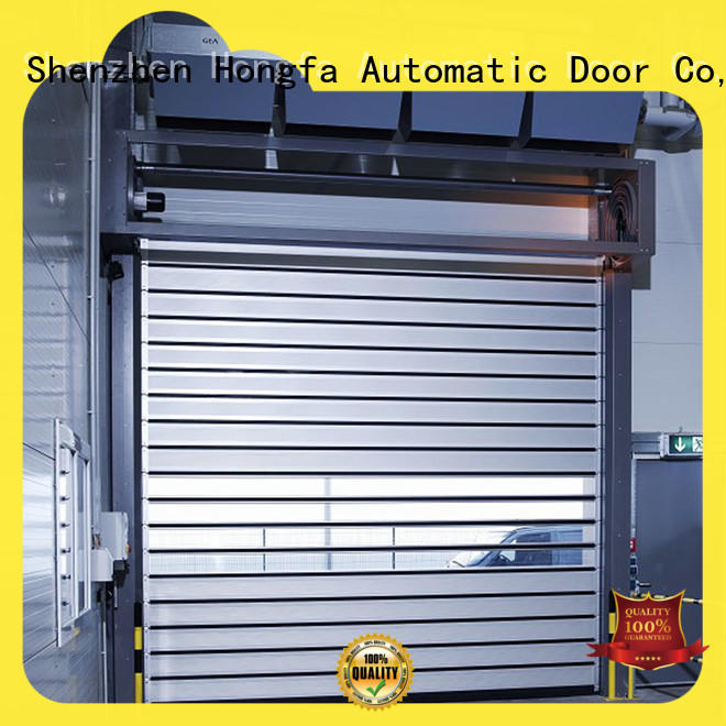 Hongfa spiral security door dropshipping for industrial warehouse