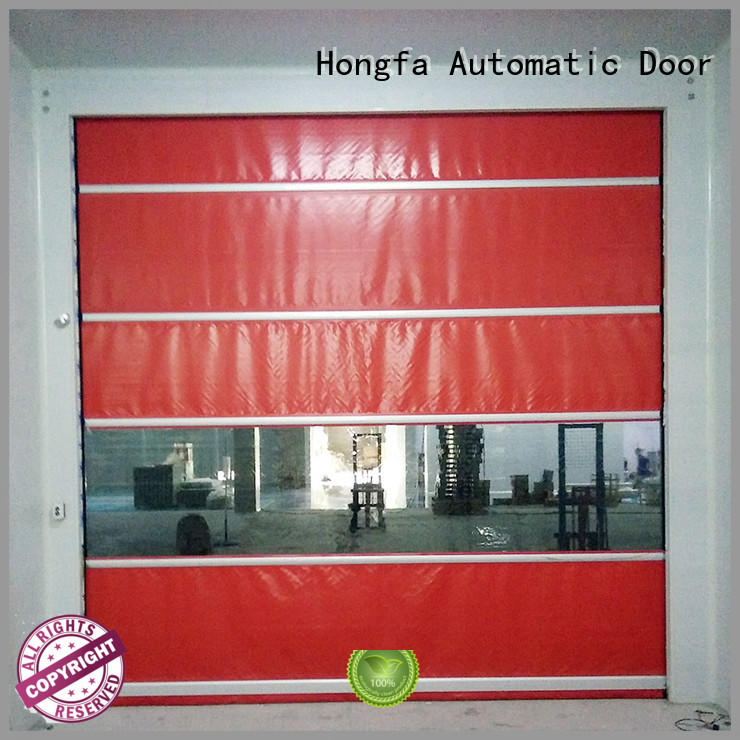 high-quality industrial garage doors marketing for food chemistry textile electronics supemarket refrigeration logistics Hongfa