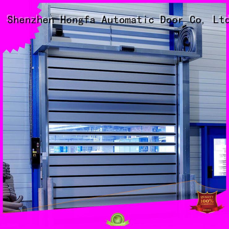 Hongfa high-tech spiral fast door supplier for parking lot