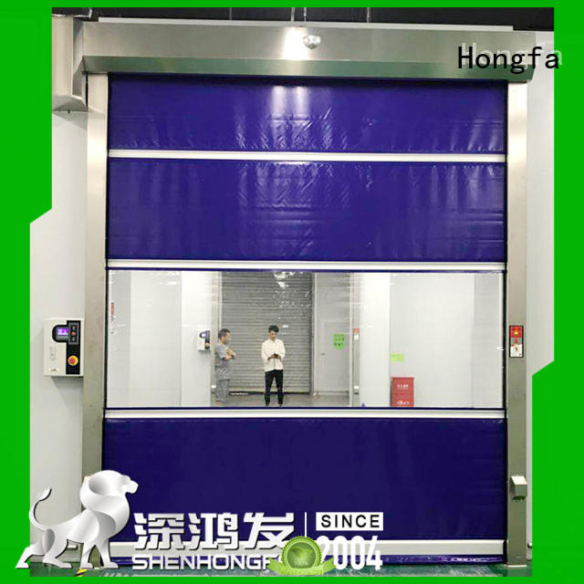 Hongfa oem fabric roll up doors in china for storage