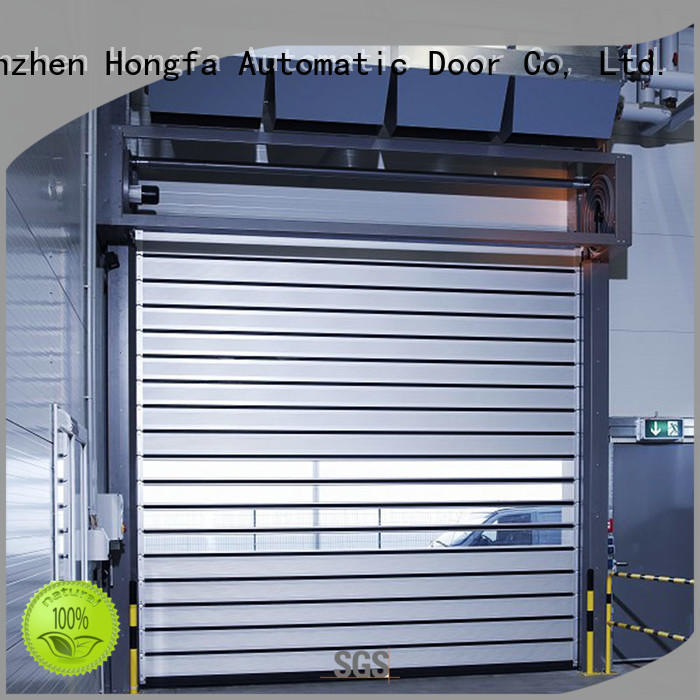 Hongfa fashion design electric roll up door automatic for factory