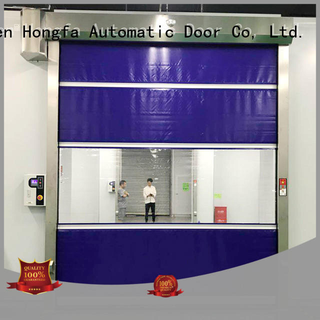 Hongfa speed high speed shutter door newly for food chemistry textile electronics supemarket refrigeration logistics
