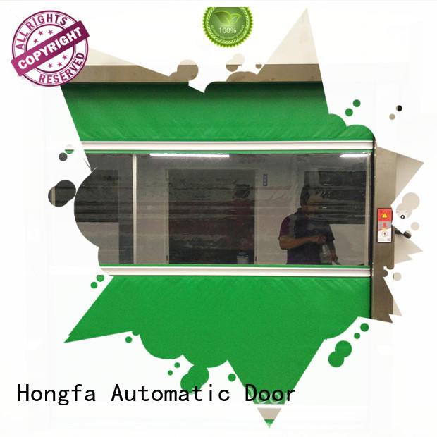 Hongfa rapid PVC fast door overseas market for supermarket