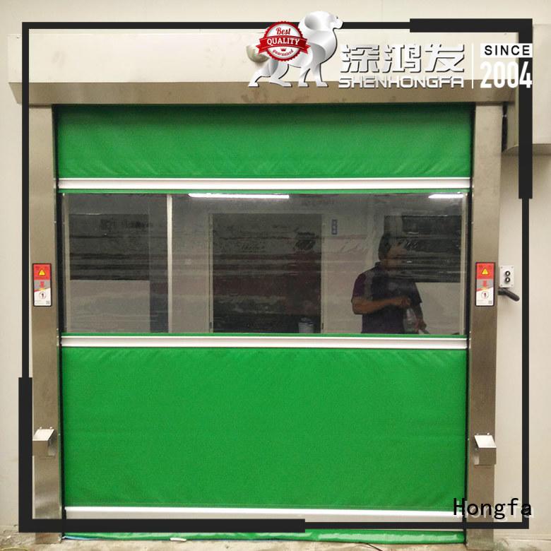 Hongfa safe pvc high speed door widely-use for food chemistry textile electronics supemarket refrigeration logistics