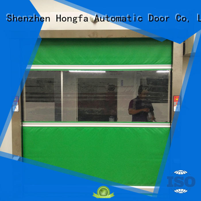 Hongfa speed fabric roll up doors supplier for factory