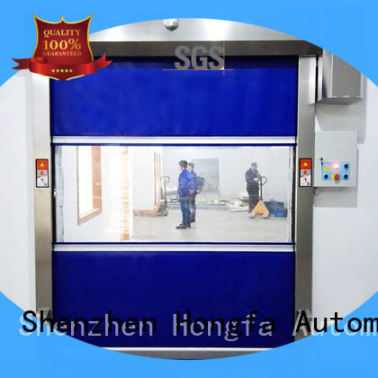 action insulated roll up door interior for supermarket Hongfa