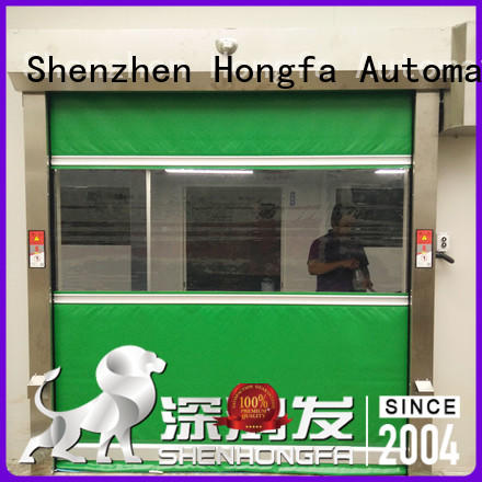 Hongfa automatic PVC fast door marketing for food chemistry textile electronics supemarket refrigeration logistics