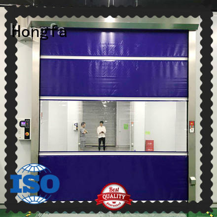 Hongfa high-tech roll up doors interior marketing for factory