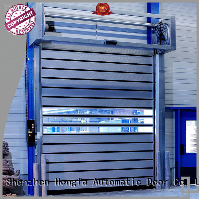 Hongfa door high speed spiral door for wholesale for parking lot
