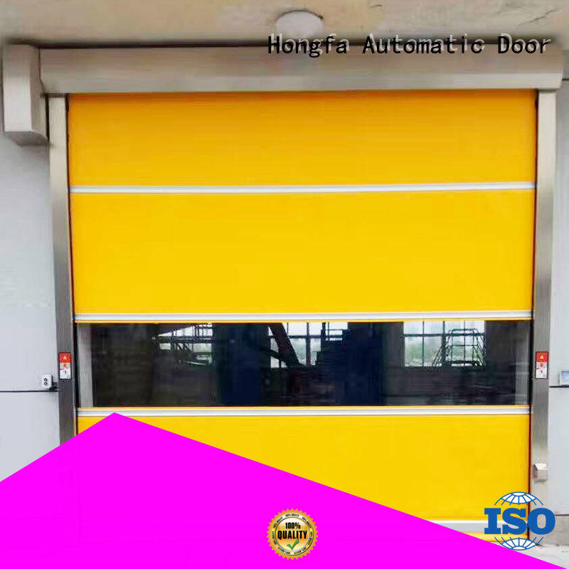Hongfa automatic fabric roll up doors in different color for warehousing