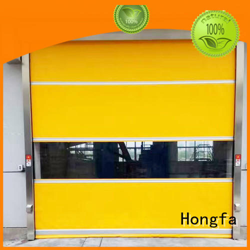Hongfa performance automatic roll up door in different color for supermarket
