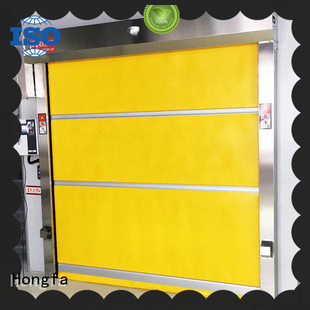 fabric roll up doors action for supermarket Hongfa