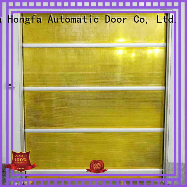 Hongfa flexible high speed shutter door in different color for warehousing