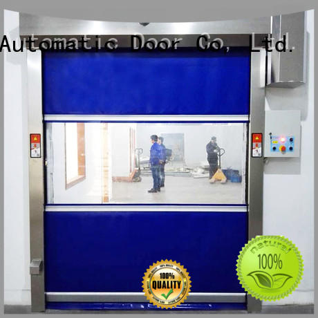 Hongfa automatic roll up door in different color for food chemistry textile electronics supemarket refrigeration logistics