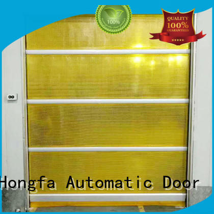 Hongfa clear high speed industrial doors factory price for warehousing