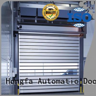 Automatic aluminum spiral fast door