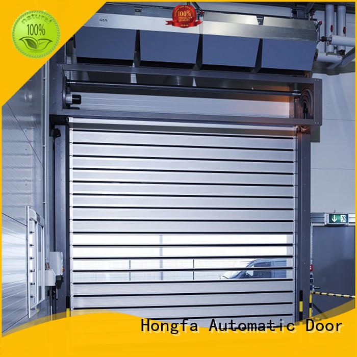 Hongfa professional high speed spiral door in different color for cold room