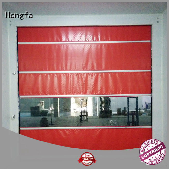 Hongfa curtain fabric roll up doors in different color for factory