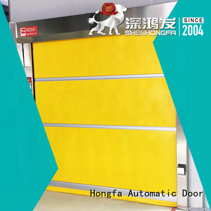 Hongfa performance fabric roll up doors in china for supermarket