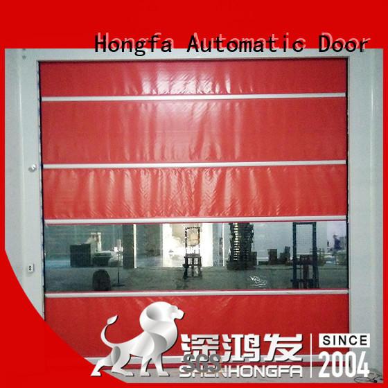 Hongfa efficient PVC fast door supplier for food chemistry textile electronics supemarket refrigeration logistics