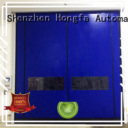Hongfa automatic custom roll up doors effectively for supermarket