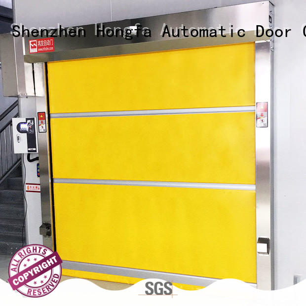 Hongfa quick shop doors factory price for supermarket