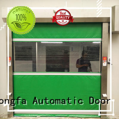 Hongfa industrial pvc roll up doors manufacturers for food chemistry textile electronics supemarket refrigeration logistics