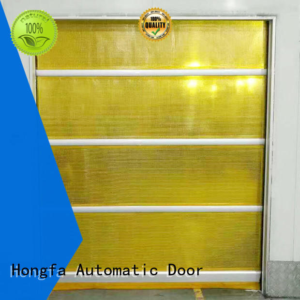 Hongfa rapid fabric roll up doors widely-use for food chemistry textile electronics supemarket refrigeration logistics