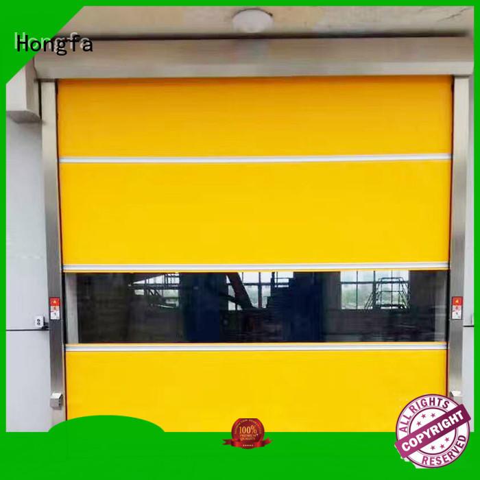 Hongfa professional roll up doors interior supplier for supermarket