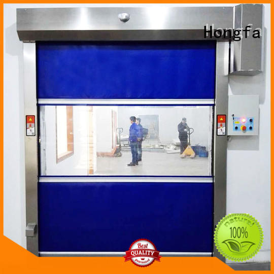 rolling roll up high speed door roller for food chemistry textile electronics supemarket refrigeration logistics Hongfa