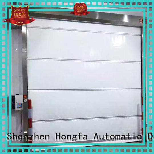 action rapid roll up door flexible for food chemistry textile electronics supemarket refrigeration logistics Hongfa