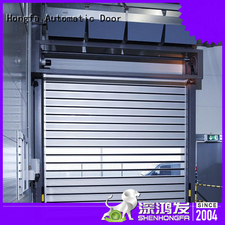 Hongfa speed electric roll up door shop now for parking lot