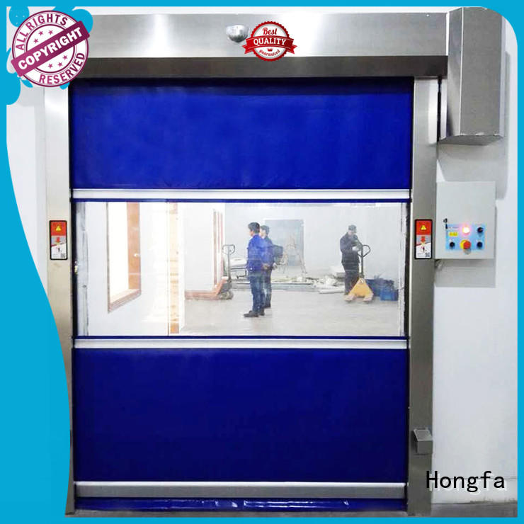 Hongfa fast fabric roll up doors widely-use for supermarket