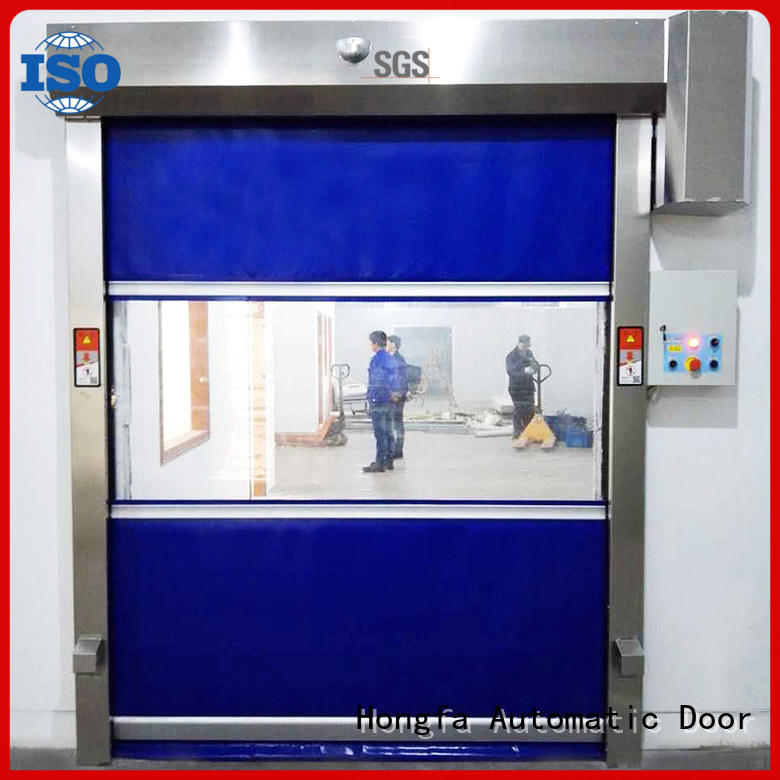 Hongfa high-speed PVC fast door widely-use for food chemistry textile electronics supemarket refrigeration logistics