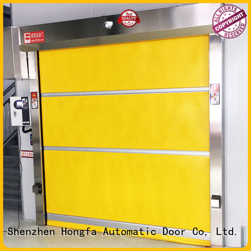 flexible high speed fabric doors automatic for factory Hongfa
