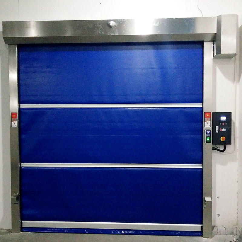 high-tech rapid roll up door plastic newly for food chemistry textile electronics supemarket refrigeration logistics-3