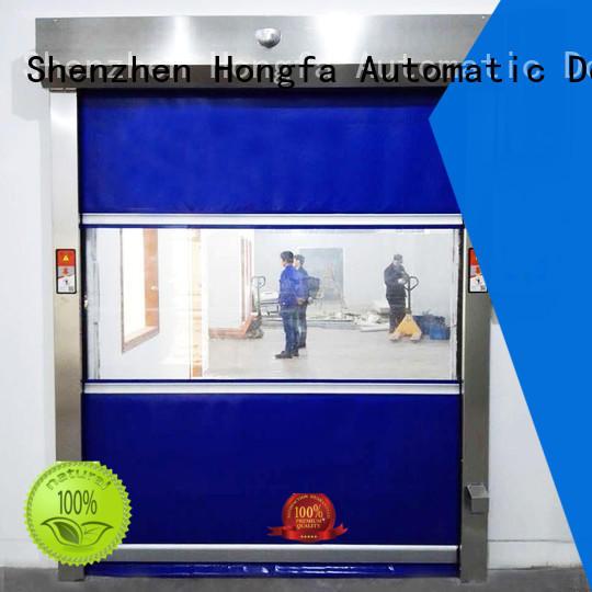 high-speed rapid roll up door pvc supplier for factory