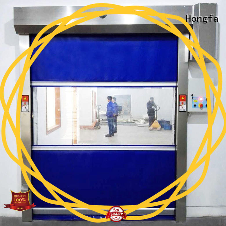 Hongfa remote fabric roll up doors factory price for supermarket