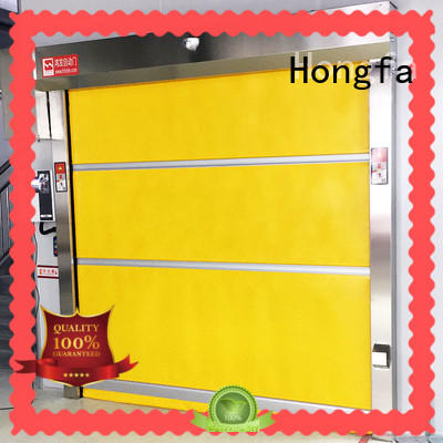 Hongfa fabric small roll up doors newly for food chemistry textile electronics supemarket refrigeration logistics