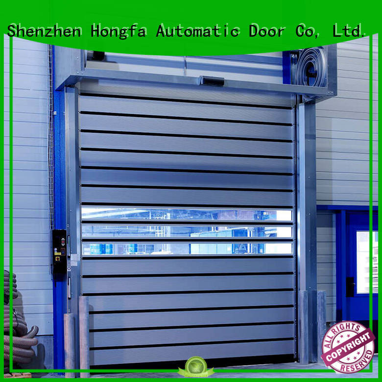 Hongfa industrial spiral fast door in different color for cold room