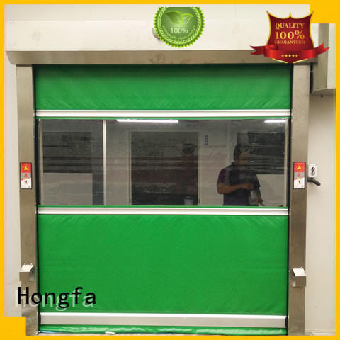 Hongfa high-quality industrial garage doors fast for food chemistry textile electronics supemarket refrigeration logistics
