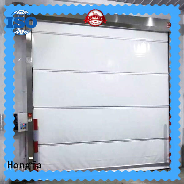 Hongfa high-speed high speed industrial doors in different color for storage