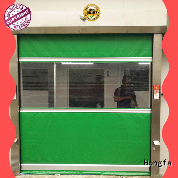 safe high speed roll up freezer doors oem in different color for warehousing