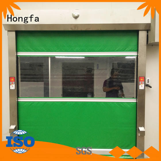 Hongfa plastic high speed door marketing for supermarket