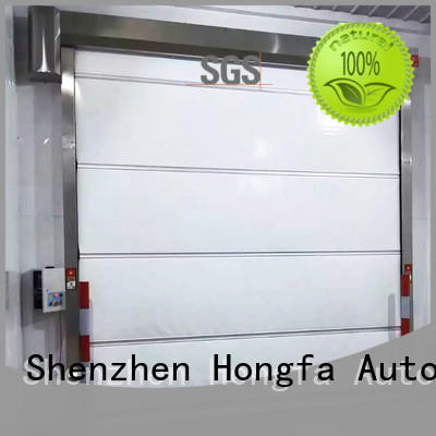 Hongfa pvc roll up high speed door in different color for factory