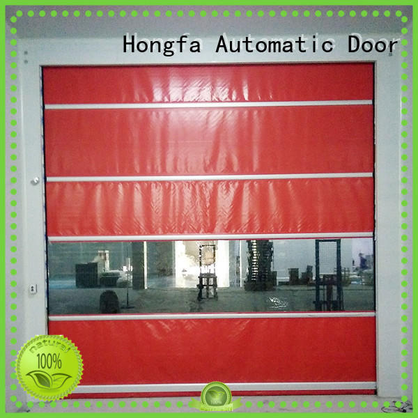 remote high speed fabric doors oem for food chemistry textile electronics supemarket refrigeration logistics Hongfa
